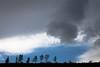 Storm Approaching Ridgeline, Near Burney CA
