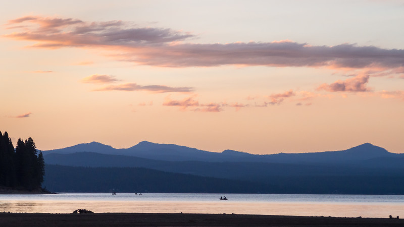 Lake Almanor Sunset Scene, Lake Almanor CA